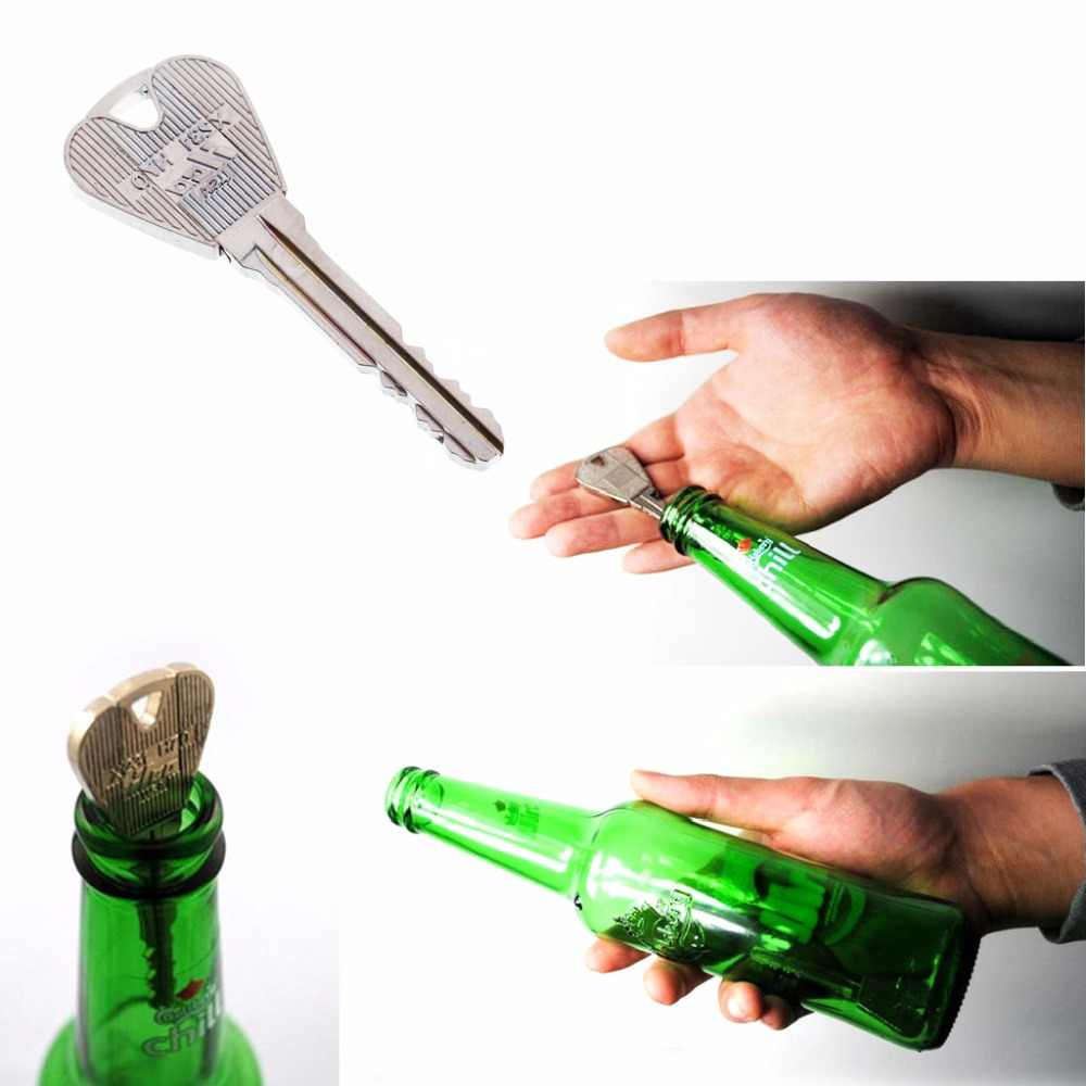 2 шт. волшебный ключ через кольцо для бутылок Floding трюк реквизит шутка игрушка легко играть