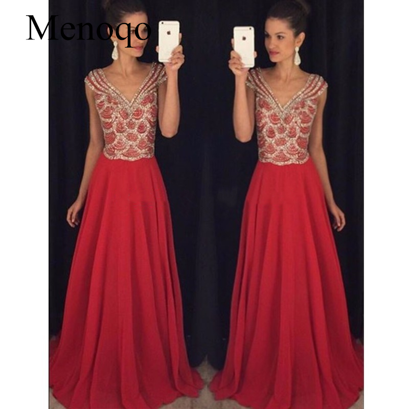 Chiffon Sparkly Red Sequin Prom Dresses Long vestidos de baile Backless Crystal Formal Evening Party Gowns
