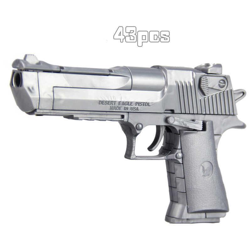 נשר מדבר ילדים DIY הארה פאזל התאסף בניין צעצוע אקדח סימולציה שילוב אקדח נשק צבאיים Pistola