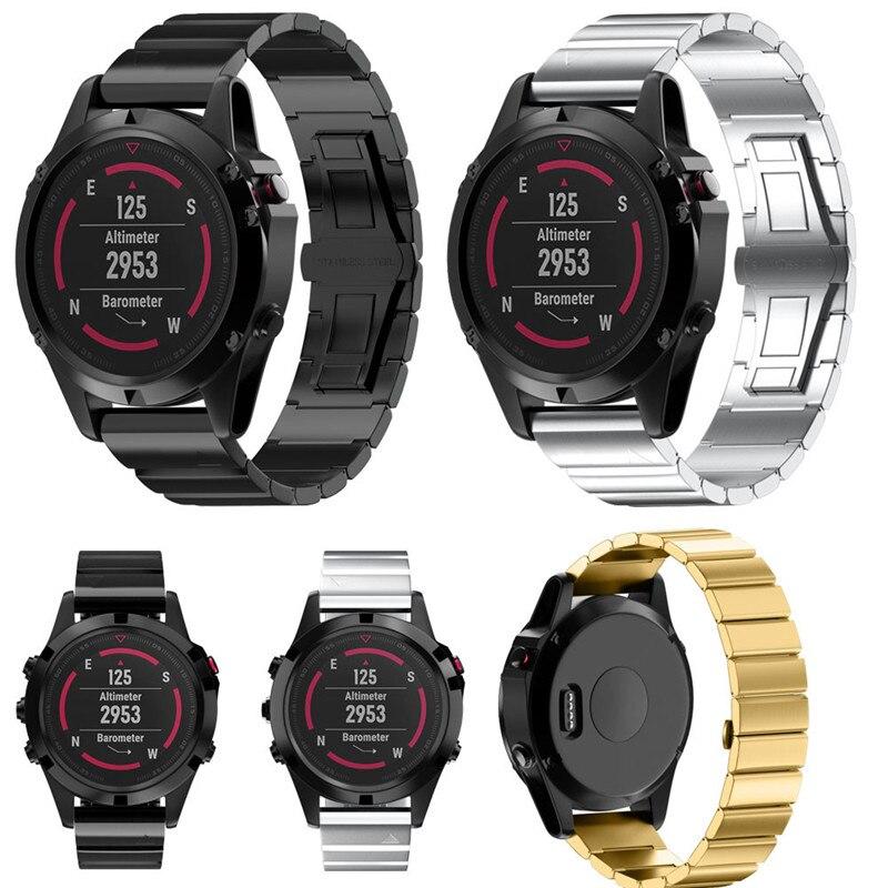 Watch band For Garmin Fenix 5x GPS Watch Genuine Stainless Steel Bracelet Band Strap For Garmin Fenix 5x GPS Watch J.26 new garmin special edition fenix 2 gps bundle watch