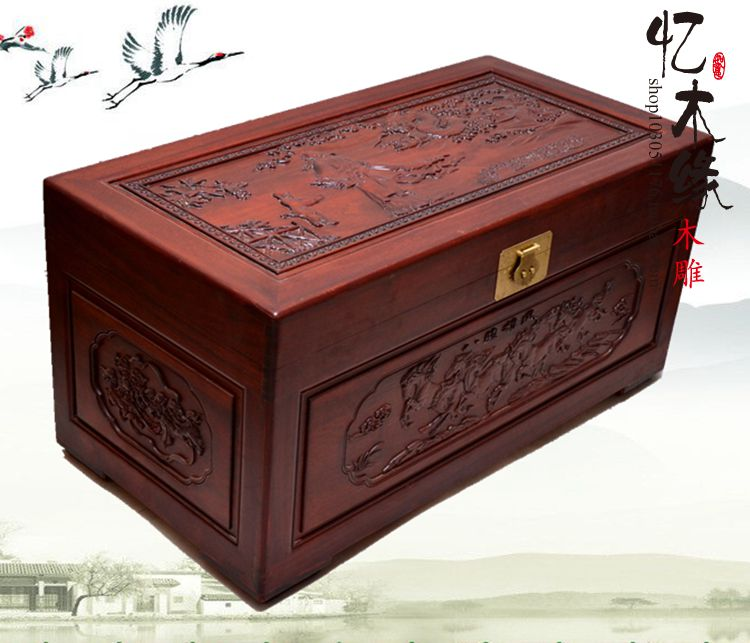 Antique wooden box containing camphor insect marriage dowry box calligraphy carved wood gift box of special offer suitcase camphor wood furniture carved wooden suitcase special offer and marriage dowry box storage box box manufacturers selling