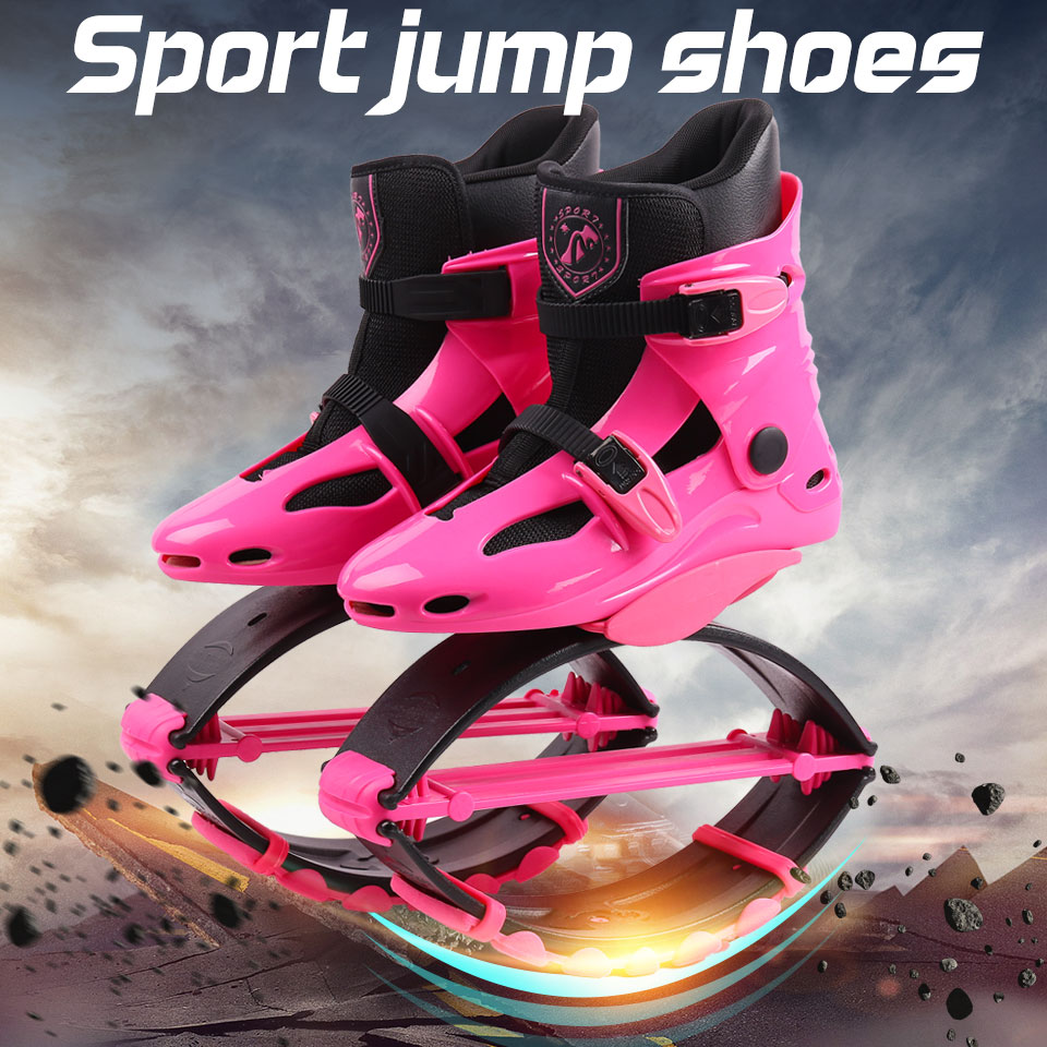 Jumping Shoes Sports-Sneakers Bounce Kangaroo Women Pink Outdoor Size-17/18
