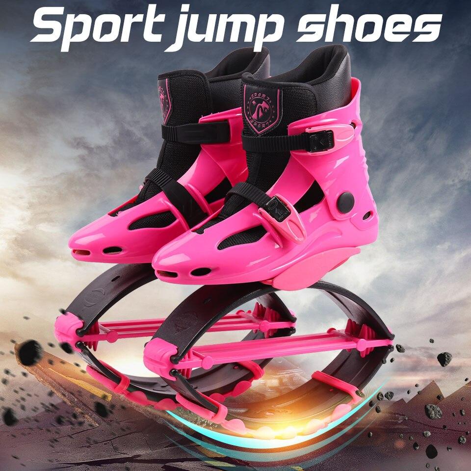 Новинка 2018 года для женщин Кенгуру Прыжки обувь Открытый отказов спортивные кроссовки прыгать обувь розовый размер 17/18