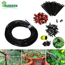 25m Automatic Micro Drip Irrigation System Garden Irrigation Plants Self Watering Kits with 30pcs Adjustable Dripper