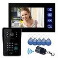 2.4G  HD 7`` TFT Color Video door phone Intercom Doorbell System Kit IR Camera doorphone monitor Speakerphone intercom