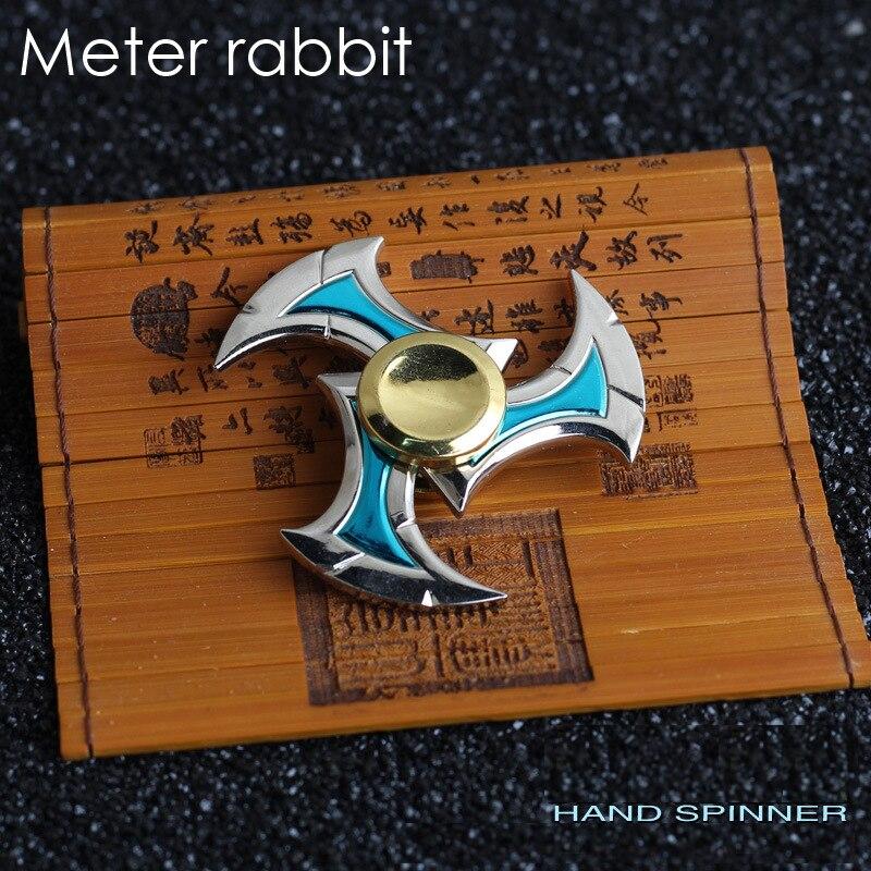 מוצר Ninja Shuriken Fidget Spinner Metal Zinc Alloy Sivir Genji