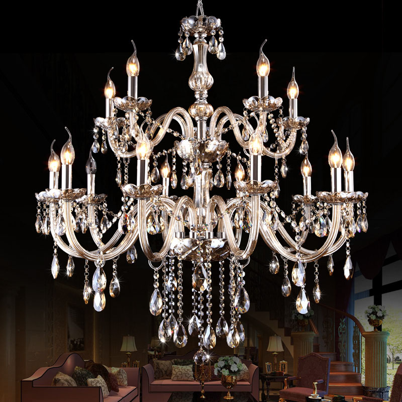 Chandelier Lighting Cognac Color Crystal Chandeliers Candle Lustres De Cristal Chandeliers Without Lampshade Living Room Lamp ship from germany crystal candle decoration chandelier pendant 10 arms lamp lustres de cristal chandeliers