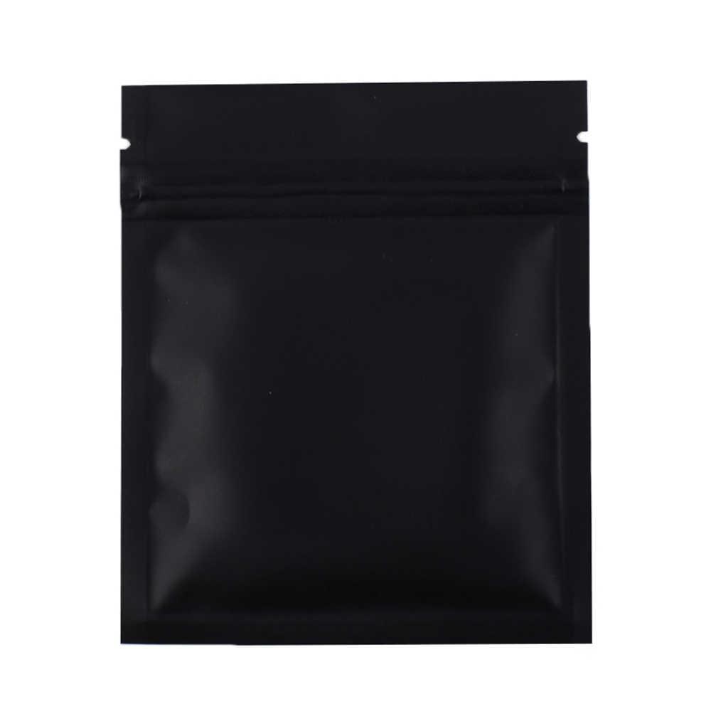 b593dec7720a 7.5x10cm/ 3x4in 100pcs Matte Black Aluminum Foil Plastic Ziplock ...