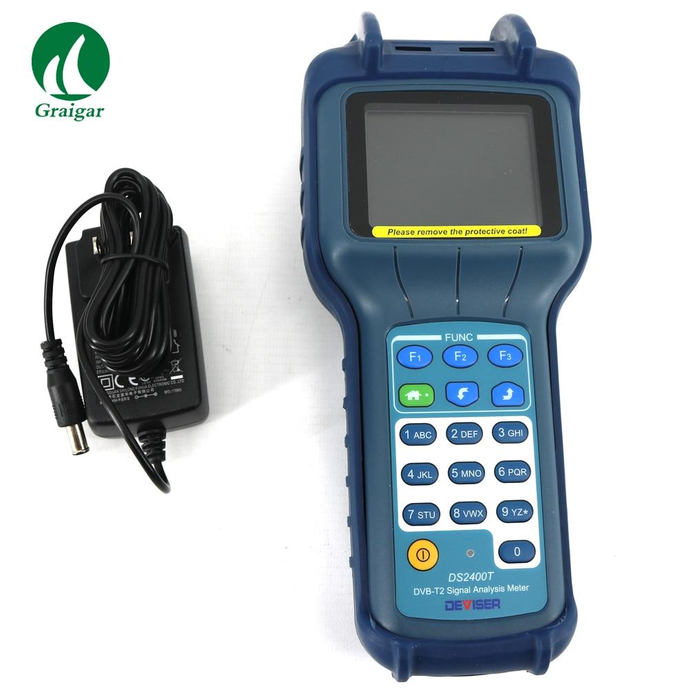CATV METER DS2400T DVB-T/T2 Meter Terrestrial Signal Level CATV METER original dvb t satlink ws 6990 terrestrial finder 1 route dvb t modulator av hdmi ws 6990 satlink 6990 digital meter finder