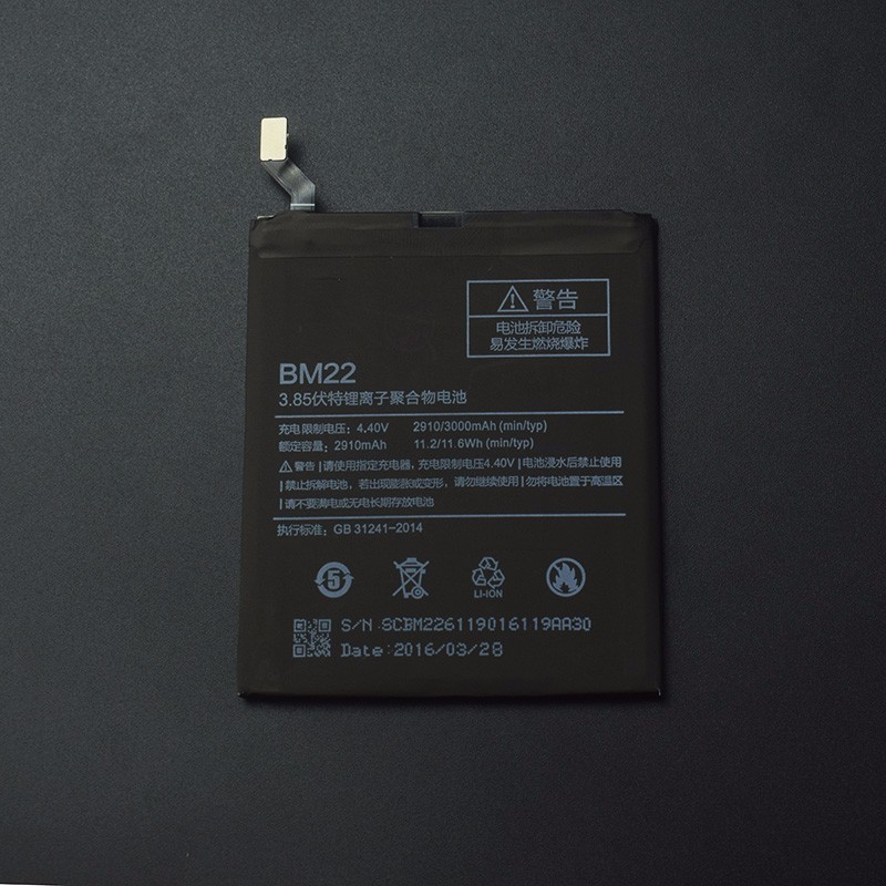 For <font><b>Xiaomi</b></font> <font><b>Mi5</b></font> BM22 <font><b>Battery</b></font> Replecement Large Capacity 2910mAh Li-ion Back-up <font><b>Battery</b></font> For <font><b>Xiaomi</b></font> <font><b>Mi5</b></font> Smart Phone