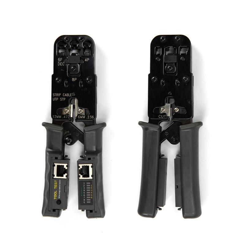 Network Cable Stripper Removable Wire Cutting Pliers Crimp Tool Tester LAN Ethernet RJ45/RJ11/RJ9 6P DEC 4P 8P Crimping Pliers 24 pcs rj45 modular network pcb jack 56 8p w led 4 ports