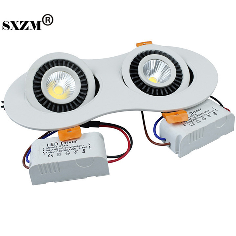SXZM 14W/20W led COB Downlight recessed in AC85 -265V indoor led ceiling <font><b>light</b></font> warm white/white/Nature white with led driver