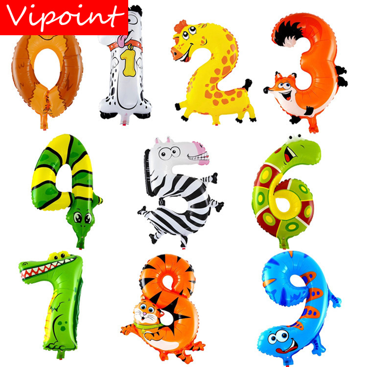 Christmas Horse Cartoon.Us 0 63 Vipoint Party 16inch Horse Animal Cartoon Number Foil Balloons Wedding Event Christmas Halloween Festival Birthday Party Hy 134 In Ballons