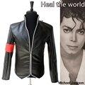 En la Memoria MJ Michael Jackson Heal the World Guapo Punky Con Brazalete Rojo Inglaterra Outwear Chaqueta Militar Colección