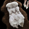 Besty high quality real fox fur vest fashion slim vests hot sale low price winter autumn spring thick warm genuine leather coat