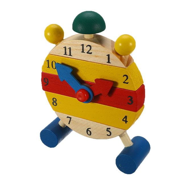 Kid Clock Wooden Puzzle Mini Puzzles Toys For Children Digital Time Learning Education Game Boys