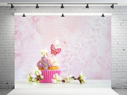VinylBDS 7x5ft różowa ściana tło urodziny ciasto zdjęcie tła strona tło dekoracji urodziny tło dla fotografii