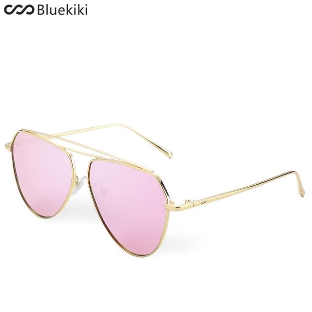 90fd113310837c KIKI Vrouwen Gepolariseerde Zonnebril Originele Merken Designer Pilot Bril  Gold Metal Oculos De Sol Mode Zomer