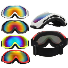 Unisex Skiing Eyewear Double Lens UV400 Anti-Fog Big Spherical Skiing Glasses Winter Sport Protective Snowboard Goggles Glasses