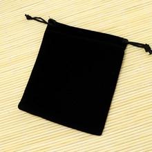 Free Shipping 20Pcs/lot 15x20cm Black Velvet Bag Cute Drawstring Jewelry Pouch Gift Bag Bracelet Watch Jewelry Packaging Bags
