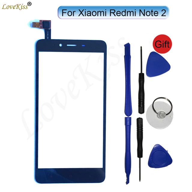 Redmi Note 2 Touch Panel Digitizer For Xiaomi Redmi Note 2 Note2 Touch Screen Sensor LCD Display Front Outer Glass TP Lens Cover
