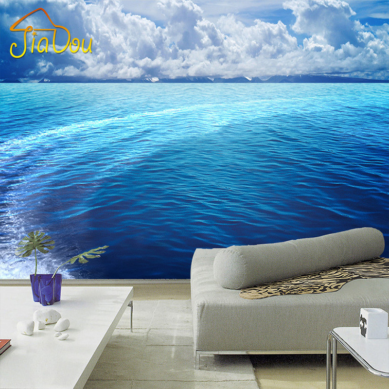 Custom Photo Wallpaper 3D Stereoscopic HD Sea And Sky Landscape Large Mural Living Room Bedroom Non-woven Wallpaper For Walls 3D