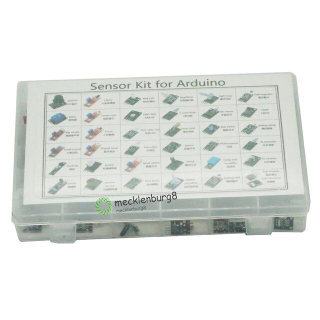 ชุดเซนเซอร์ Kit 37 in 1 สำหรับ Arduino สำหรับผู้เริ่มต้นแฟน DIY เปลวไฟสวิทช์อุณหภูมิสี LED Buzzer Replay ขายปลีกกล่อง