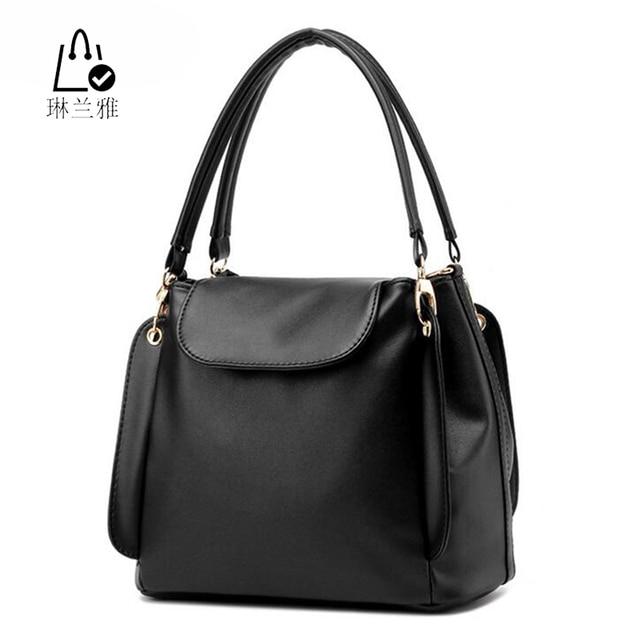 LINLANYA Women Bucket Bag female Autumn summer Scrub Bucket Bag Women pu Handbags Ladies Shoulder Bag Zipper & Hasp bags Z-31