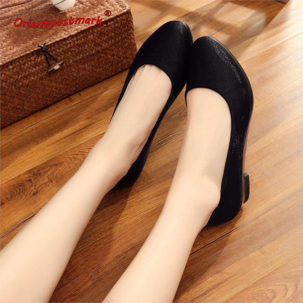 Women Work Sweet Shoes Women Wedges Shoes Cloth Loafers Slip On Women's Wedges Office Shoes For Driving Rest Oversize Boat Shoes women shoes women ballet flats shoes for work flats sweet loafers slip on women s pregnant flat shoes oversize boat shoes d35m25