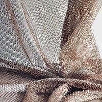 Custom curtain modern minimalist bobbinet coffee white grey mesh bedroom livingroom curtain window tulle yarn M186