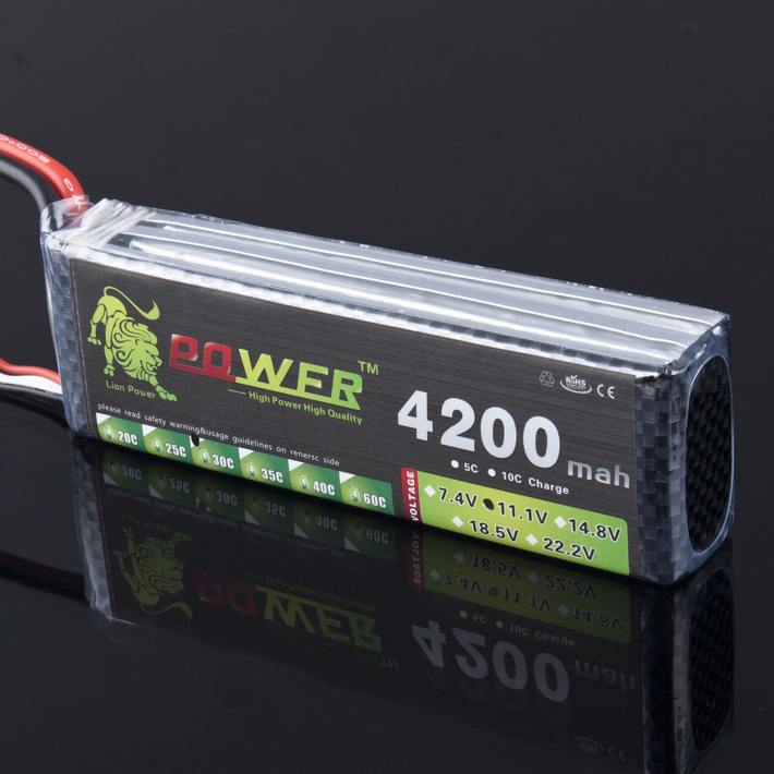 León poder 3 s 11.1 V 4200 mAh batería Lipo 30C para helicóptero de cuatro ejes RC coche barco poder XT60 JST plug 3 s batería lipo