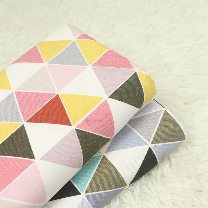 half meter 100% cotton geometric print canvas fabric, handbag sofa pillow back cushion table cloth CR-A155
