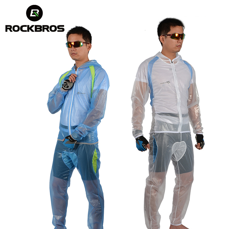 ROCKBROS MTB Bike Cycling Suits Jersey Pants Bicycle Riding Rainproof Windcoat Raincoat Breathable Compressed ForCliming Fishing