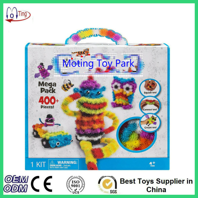 2016 Magic Puffer Ball 400 Pieces Accessories Build Mega Pack Animals DIY Assembling Spot Best Block