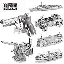 MIni Silver Beretta 92 SUV Series Metal Puzzle 3D Laser Cut Model Jigsaw DIY Adult Child Educational Decoration Toy