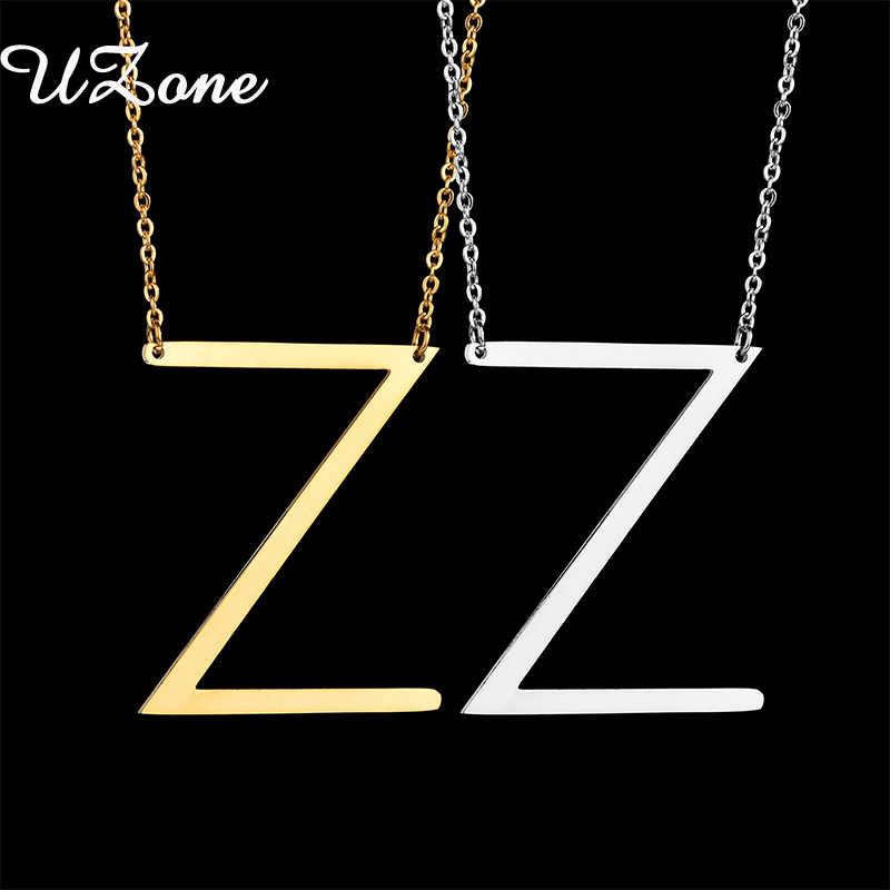 UZone Начальная Буква Z имя Цепочки и ожерелья один золотая цепочка английский