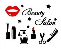 Beauty Salon Wall Decal Girl Makeup Tools Cosmetics Beauty Hair Salon Mural Wall Sticker Beauty Salon Bedroom Home Decoration