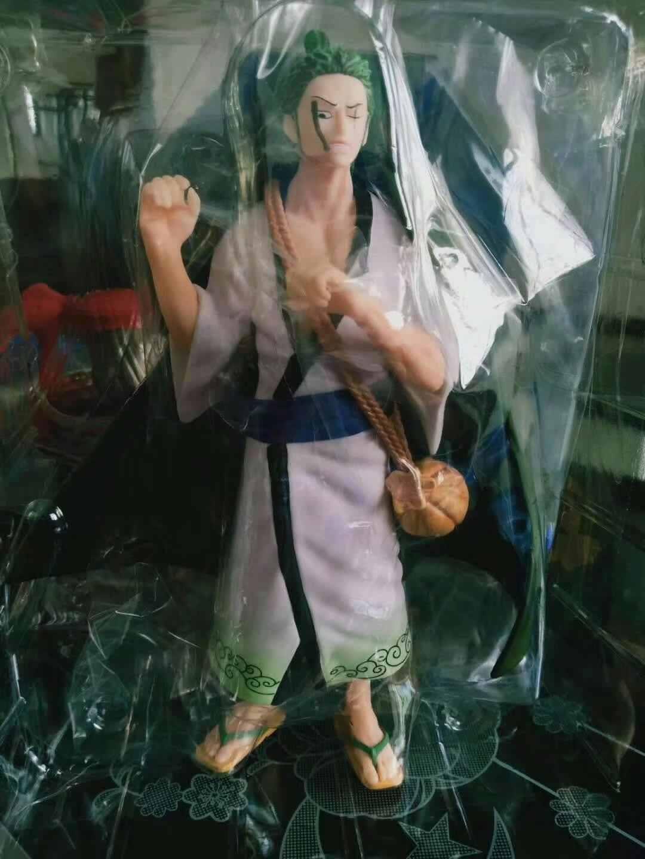 26.5 centímetros anime Japonês figura one piece branco roupas Roronoa Zoro figura de ação collectible modelo brinquedos para meninos