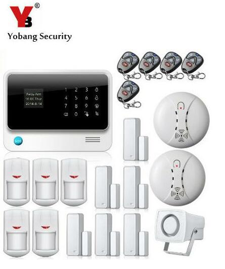 YobangSecurity G90B Touch Keypad LED Displays Wifi GSM Alarm Home Burglar Security Alarm System Android IOS APP Remote Control yobangsecurity gsm wifi burglar alarm system security home android ios app control wired siren pir door alarm sensor