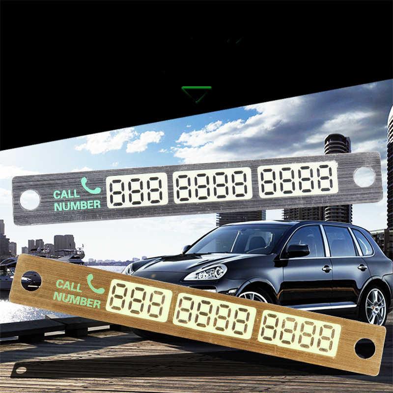 Sıcak Evrensel Araba Aydınlık Geçici Park kartı Plaka Enayi Gece Telefon Numarası Kartı Araba Dur Park Işareti Uyarı Numarası