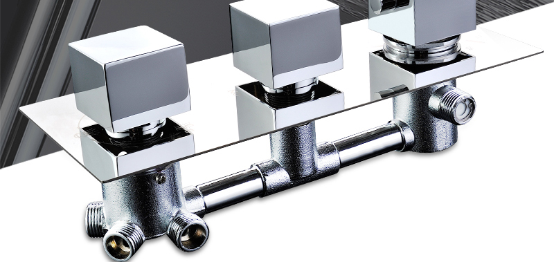 DCAN Bathroom Thermostatic Mixer Valve Brass Chrome Finish Shower Faucet Mixer Valve 3-4 Ways Faucet Bath Faucet Accessories (2)