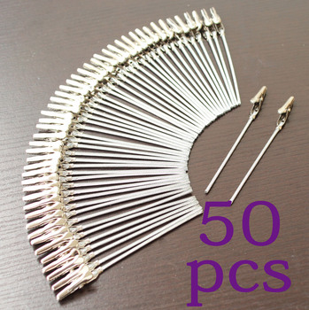 lot 50pcs 4 inch DIY craft new wire clip card&note&picture&photo&memo holder clips,party alligator clamp,clay&cake Accessories 1