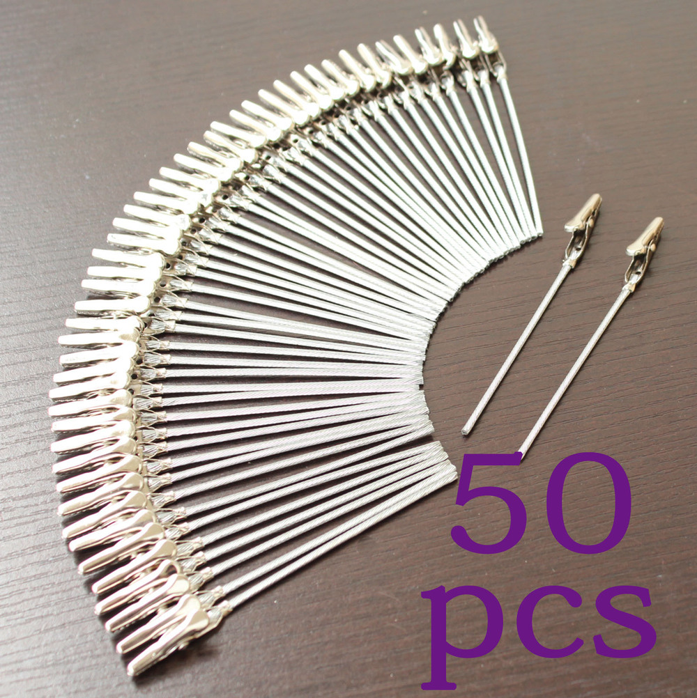 Lot 50pcs 4 Inch DIY Craft New Wire Clip Card&note&picture&photo&memo Holder Clips,party Alligator Clamp,clay&cake Accessories