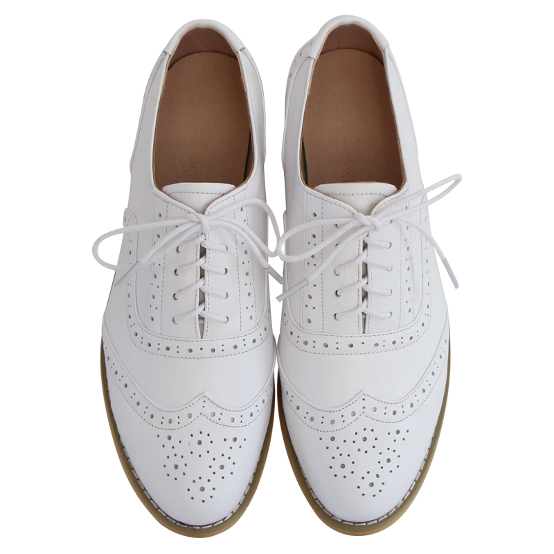 Big Size 33 45 New 2018 Hot British Style Handmade Genuine Leather Shoes Brogue College Oxford