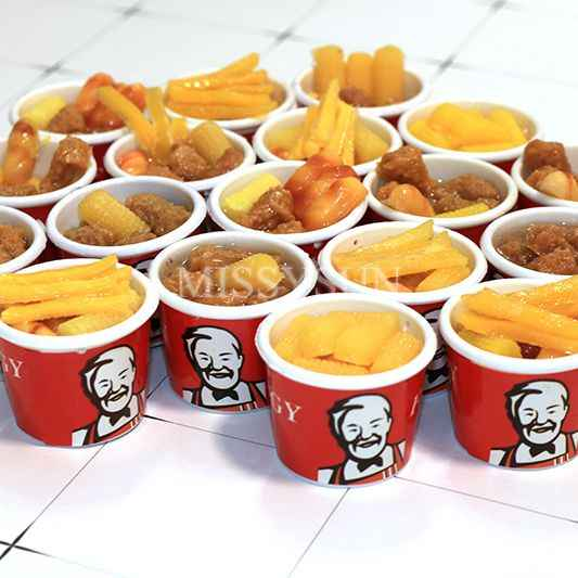 2pcs 1:6 Scale Miniature Dollhouse bucket Fast Food for Dollhouse Decor Pretend food Chips for blyth bjd Doll Accessories Toys