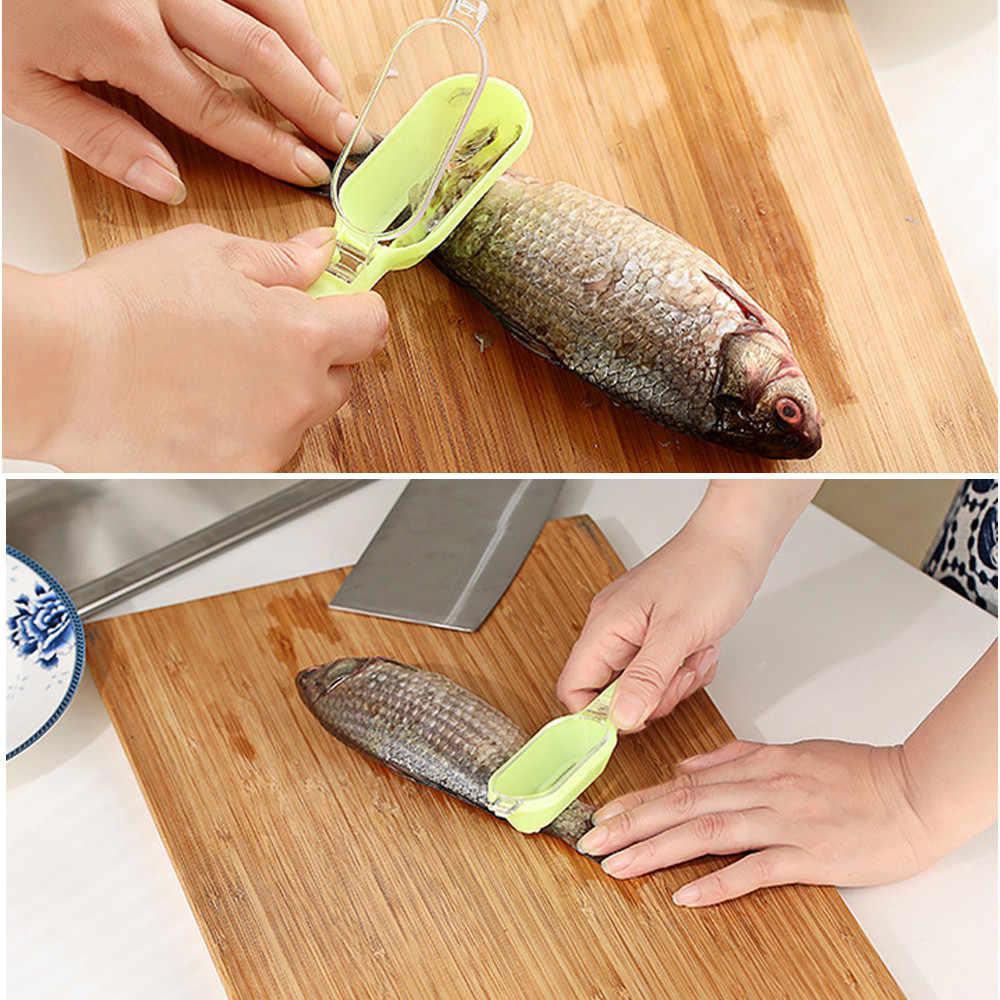 الأسماك الجلد فرشاة كشط بكرات الصيد فرشاة Graters سريع إزالة سكين الأسماك تنظيف مقشرة قشارة مكشطة mufak #50