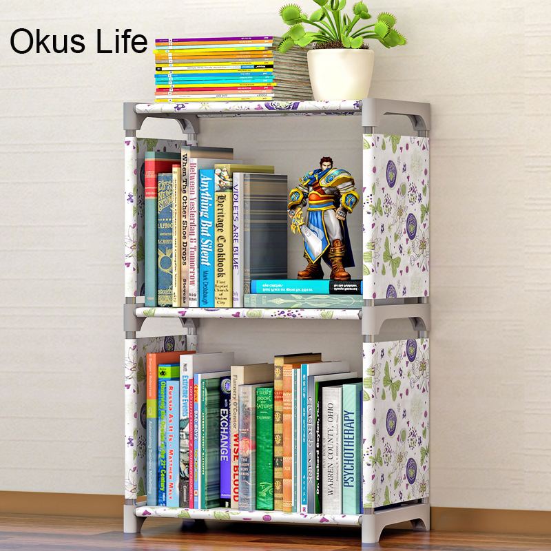 Multi Layer Simple Creative Bookshelf Storage Shelve for books Plants Sundries DIY Children Bookcase Rack for home furniture