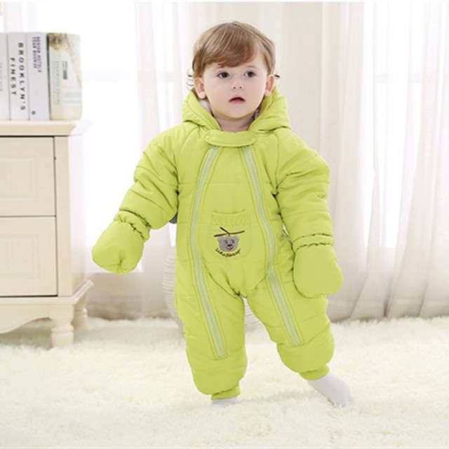35625f172 Baby Coverall Down Coat Thick Warm Winter Clothes Newborn Outwear ...