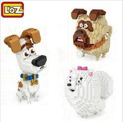 LOZ Mini Building Blocks Cartoon Dogs Model Pet Pomeranian Small Bulldog Anime Educational Action Finger Toys boys girls Gift