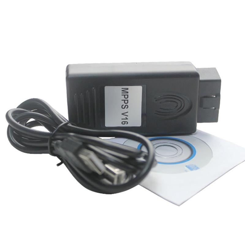 Профессиональный MPPS V16 ECU чип-тюнинг инструмент для EDC15 EDC16 EDC17 inkl контрольная сумма может flasher переназначения Бесплатная доставка LR10